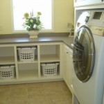 cubbies for individual laundry baskets