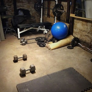 basement-dumbbells-mat-bench